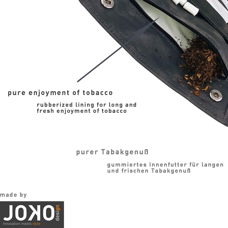 Deux ou Trois Feuilles Pochette /à Tabac Ziggy Jumper/® en Cuir de Haute qualit/é avec Compartiment /à Une avec Compartiment Filtre de diff/érentes Couleurs Sachet /à Tabac