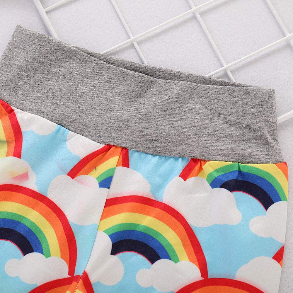 Toddler Baby Girls Boys Rainbow Clothes Outfits Cuekondy Fashion Letter Print Long Sleeve Romper Bodysuit Pants Hat Set