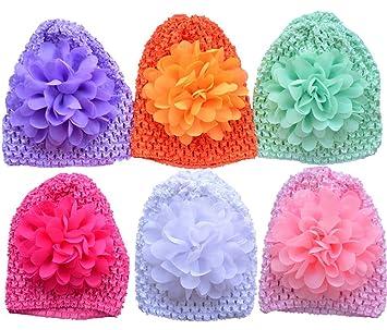 528e9f78a70 Amazon.com  Qandsweet Baby Newborn Crochet Hats Infant Cap and ...