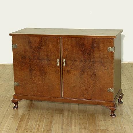 C1930 Antique Walnut 8 Drawer Linen Press Chest Dresser Cabinet
