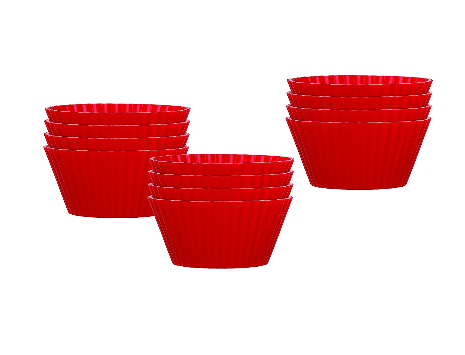 Mrs. Anderson's Baking 43736 Muffin Cups, Non-Stick European-Grade Silicone, Standard Size, Set of 12