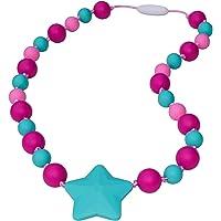 Munchables Starlight Sensory Chew Necklaces for Girls (Fuchsia/Pink/Aqua)