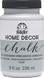 product image for FolkArt Home Decor Chalk Furniture & Craft Paint in Assorted Colors, 8 ounce, Silver Shadow
