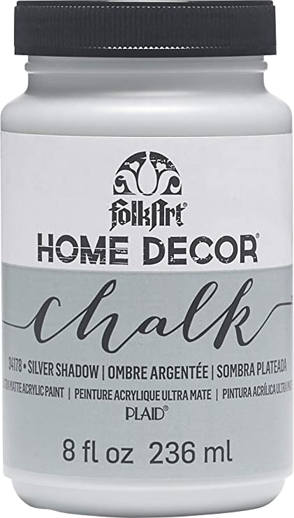 FOLKART 34178 Chalk Finish Paint, 8 oz, Silver Shadow