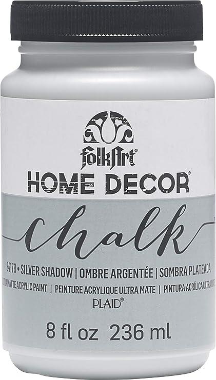 FOLKART 34178 Chalk Finish Paint, 8 oz, Silver Shadow
