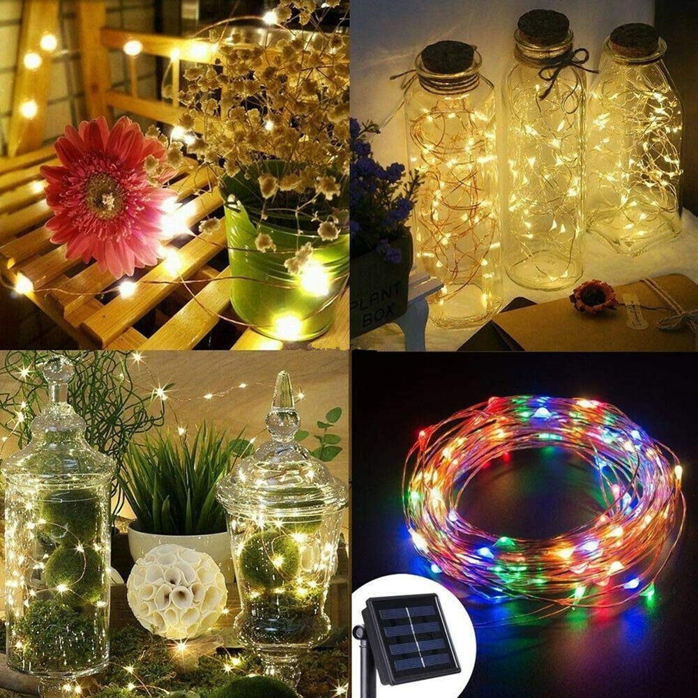 per feste fai da te impermeabile Natale e matrimoni a energia solare Striscia di luci da esterni WAINEO Halloween