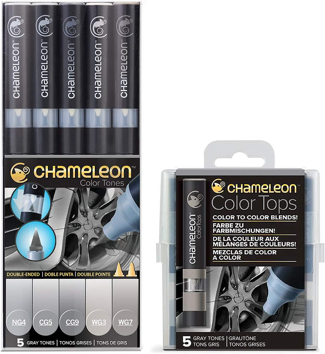 5 SET CHAMELEON COLOR TONES MARKERS GREY TONES