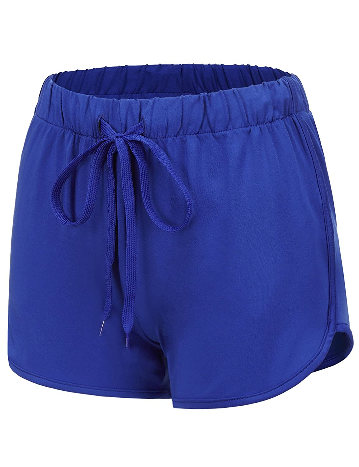17401_bluee Regna X Women's Summer Dolphin Running Shorts (Solid & color Block)