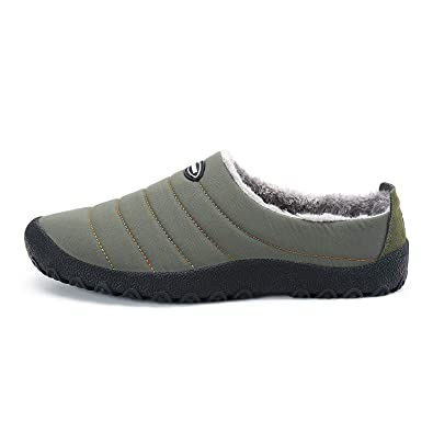 2adc56a16 TOOGOO Men's Women's Anti-Slip Moccasin Loafer Winter Warm Low Top Slippers  Shoes with Fully Fur Lined 37 Khaki: Amazon.co.uk: Shoes & Bags