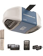 Chamberlain Group B730 Ultra-Quiet & Strong Belt Drive Garage Door Opener with Battery Backup and Plus Lifting Power, Blue