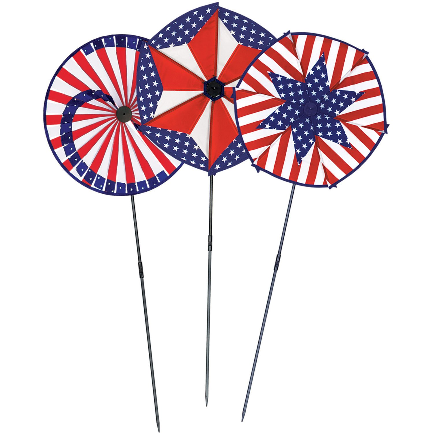 1 count stars /& stripes designs Party Accessory 1//Pkg Patriotic Wind-Wheels The Beistle Company 50690