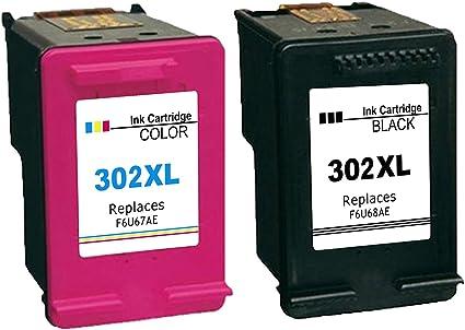 Ksera Remanufacturado HP 302 XL HP 302 Cartucho de Tinta, Alto ...