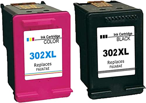Ksera Remanufacturado HP 302 XL HP 302 Cartucho de Tinta, Alto Rendimiento Paquete de 2 (1 Negro, 1 Tricolor) F6U68AE/ F6U67AE Compatible con HP Envy 4520/4521/ 4522/4523/ 4524/4525/ 4527/4528: Amazon.es: Electrónica