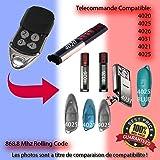 Sommer - 4025 TX 02-868-2 Télécommande de rechange Compatible 868,8MHz, 868,8 MHz coulissant pour Emetteur qualité ! 100% Compatible avec les télécommandes 868,8MHz Sommer code !
