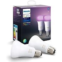 Philips Hue Standaard Lamp 2-Pack - E27 - Duurzame LED Verlichting - Wit en Gekleurd Licht - Dimbaar - Verbind met…