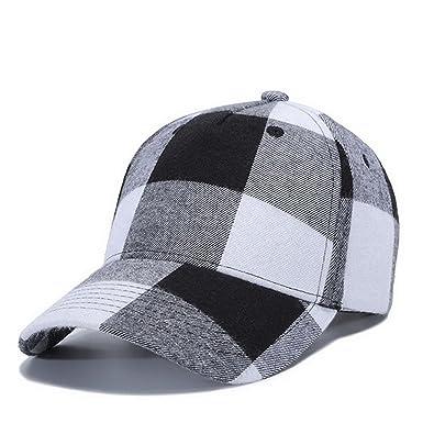e02f9516b90 Prettyever Trendy Men Women Couple Baseball Cap Grid Pattern Spring Summer  Retro Cotton Hats Snapback Autumn