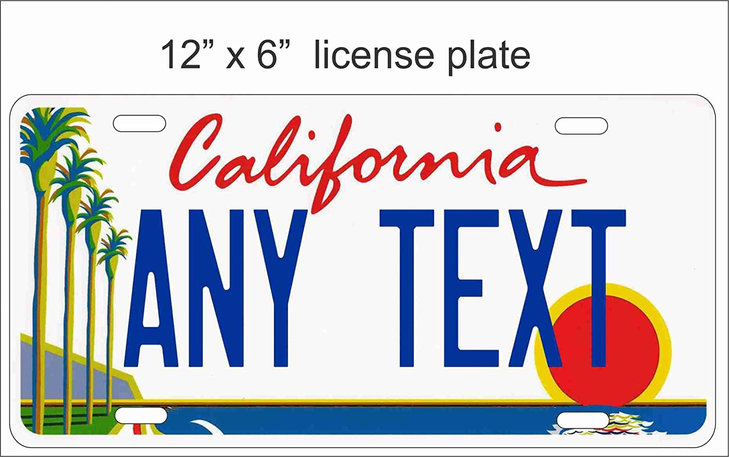 California Customize with Your Text Novelty Reproduction License plate