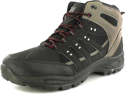 X Hiking NEU HerrenHerren schwarz Eiger Wanderstiefel, Ghillie Schleife Schnürsenkel schwarzgraurot UK Größen 6 12