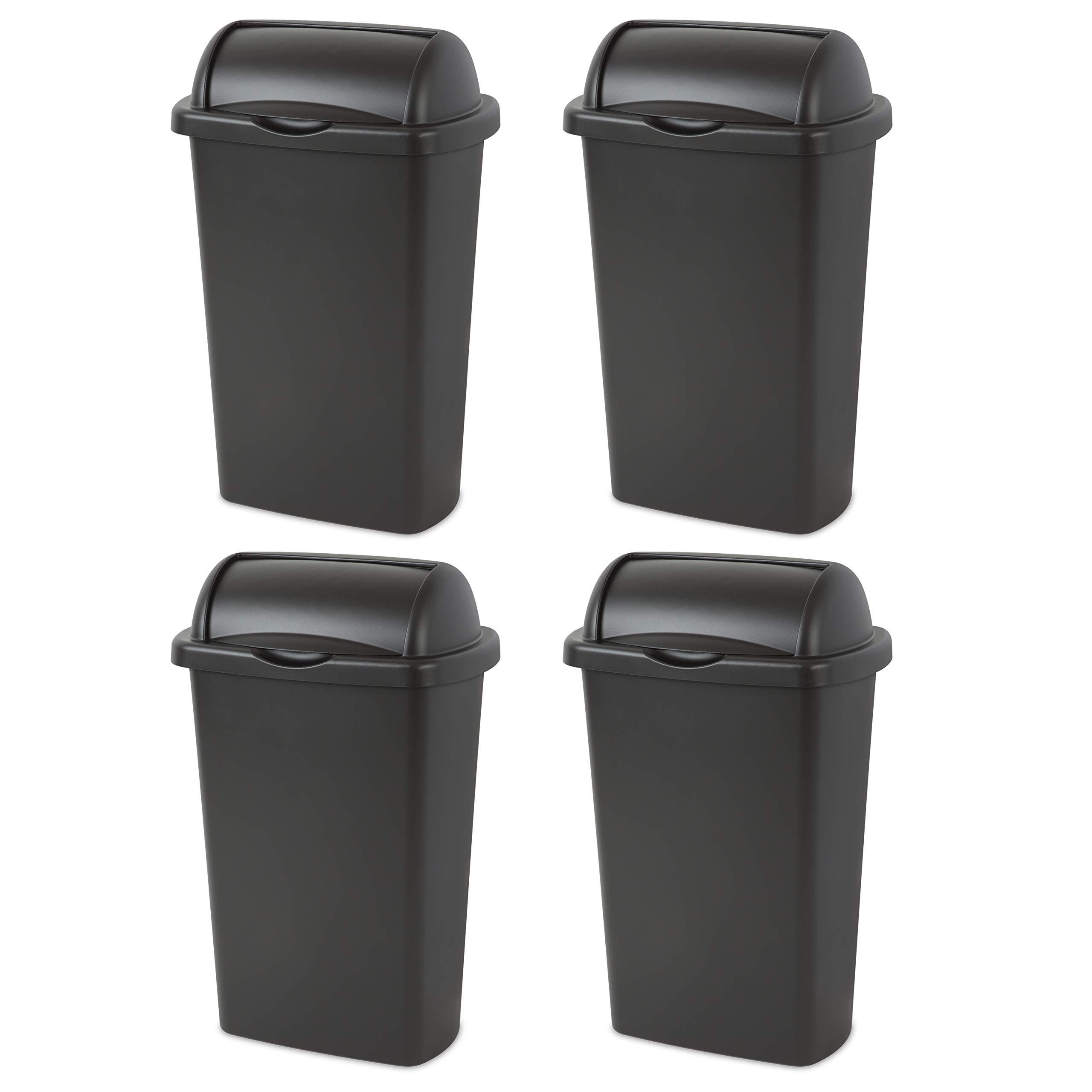 STERILITE, 13 Gal./49 L Roll Top Wastebasket, Case of 4