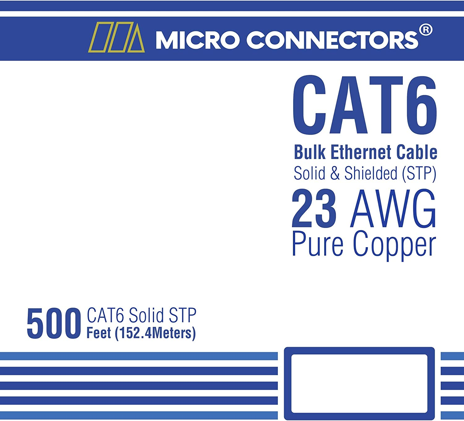 STP Gray Cat6 Bulk Ethernet Cable Micro Connectors 500ft Solid Shielded TR4-560SHGR-500