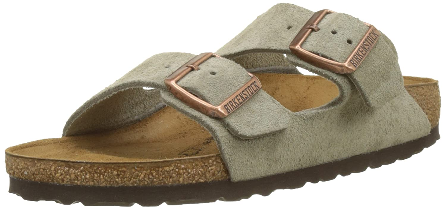 Birkenstock Arizona Soft Footbed Leather Sandal B000EYBKLU 37 N EU|Taupe Suede