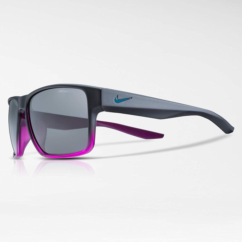 c8495a5fa254 Amazon.com: Nike Men's Essential Venture Square Sunglasses, Matte Black/Hyper  Violet Fade, 59 mm: Clothing