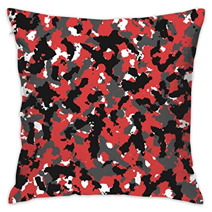 Admirable Newiness Durable Beautiful Throw Pillow Cover Bloodshot Camo Red Urban Couch Decorative Pillow Case Home Decor Square 18 X 18 Inch Pillowcase Pdpeps Interior Chair Design Pdpepsorg
