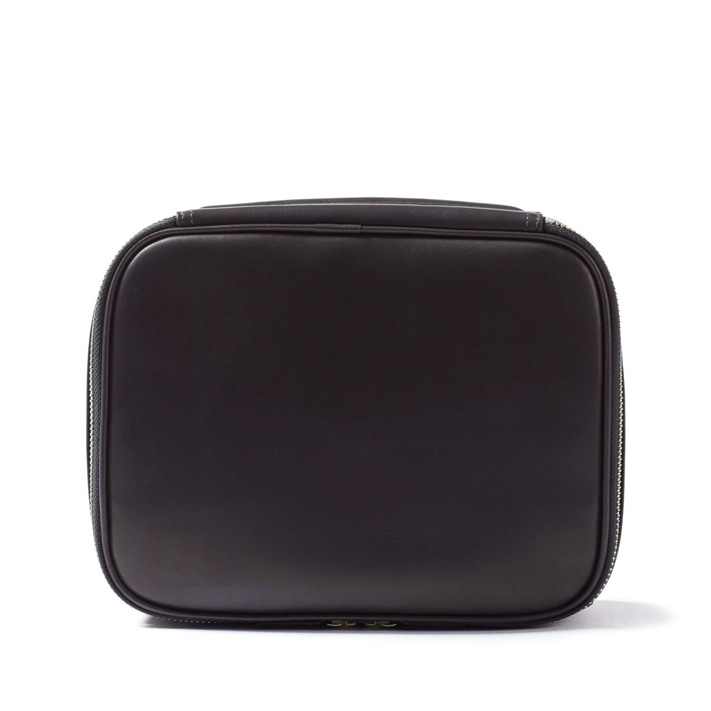 Leatherology Large Travel Organizer - Full Grain German Leather Leather - Black Oil (black)