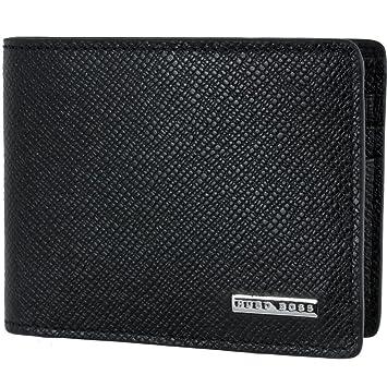 e43263b4d21a7 HUGO BOSS Herren Kartenetui kleine Geldbörse Brieftasche Portemonnaie in  schwarz