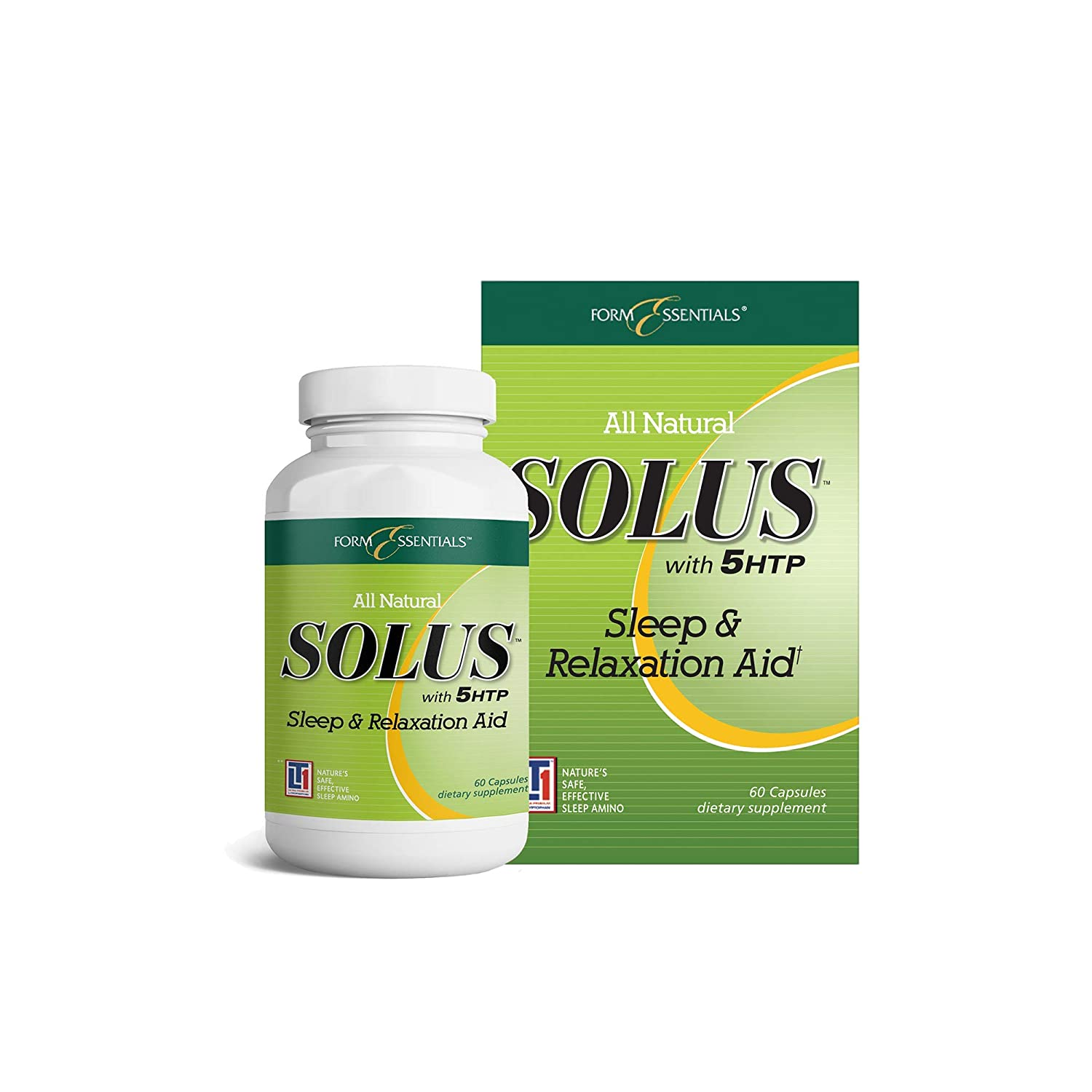 Amazon.com: Form Essentials Solus with 5HTP All Natural Sleep and  Relaxation Supplement 60 Capsules: Health & Personal Care