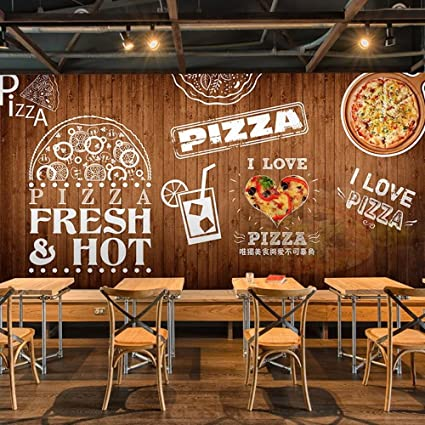 Colomac Wall Mural Wood Pizza Mural Suitable For Restaurant