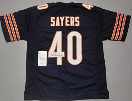 Image Unavailable. Image not available for. Color  Gale Sayers Autographed  Jersey ... 8f668e465