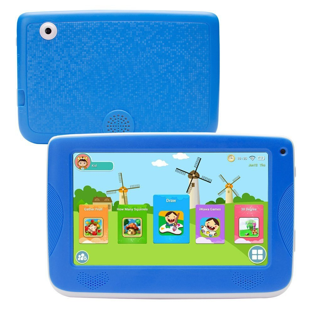 LLLtrade 7 inch Kids Education Tablets Android 5 1 8GB, Kids Software  Pre-Installed, Premium Parent Control, Educational Game Apps,WiFi,Bluetooth