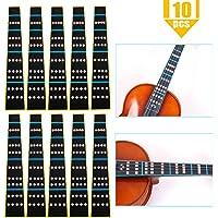 Heatoe 10 Pack 4/4 Full Size Violin Finger Guide Sticker, Violin Notes Sticker Fingerboard Sticker Fretboard Marker for…