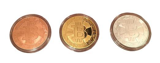 3er Set Bitcoin Münzen Angreifbare Physische Physikalische