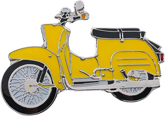 Simson Schwalbe In Yellow Pin Auto