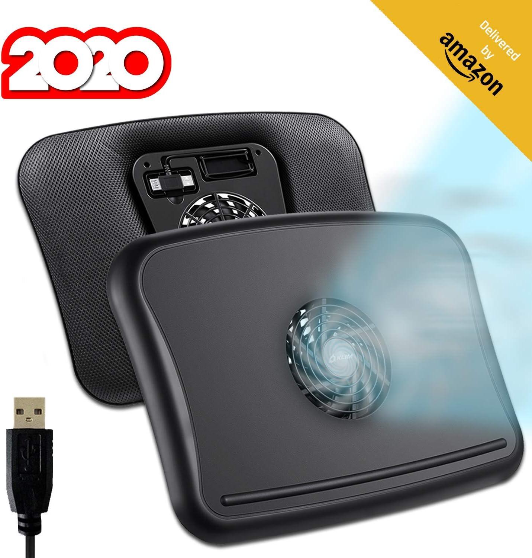 KLIM™ Comfort + Base de refrigeración para portátil + Protégete del Calor y Evita el sobrecalentamiento + Nueva 2020 + Silenciosa y cómoda, Compatible de 10 a 15,6