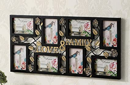 Amazoncom 8 Frames Solid Wood Family Photo Frame For Picture Wall