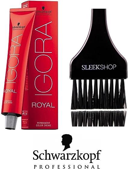 Schwarzkopf Igora Royal profesional permanente del color del pelo (liso Con Tinte cepillo) (7-00 Rubio Medio Forte)