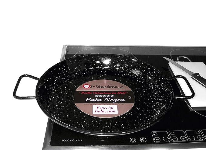 Garcima M282971 - Paellera esmaltada Pata Negra 34 cm: Amazon.es ...