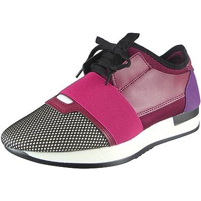 NGRDX&G Chaussures De Sport Femme Respirant Chaussures De Course, Violet, 36