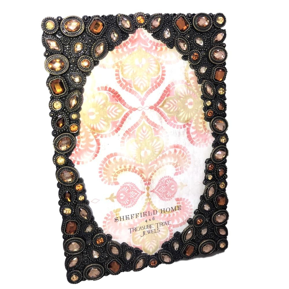 Amazoncom Sheffield Home Picture Frame Rhinestone Faceted Gem