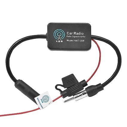 WEKON Amplificador de Señal de Radio de Coche, Amplificador Antena ...