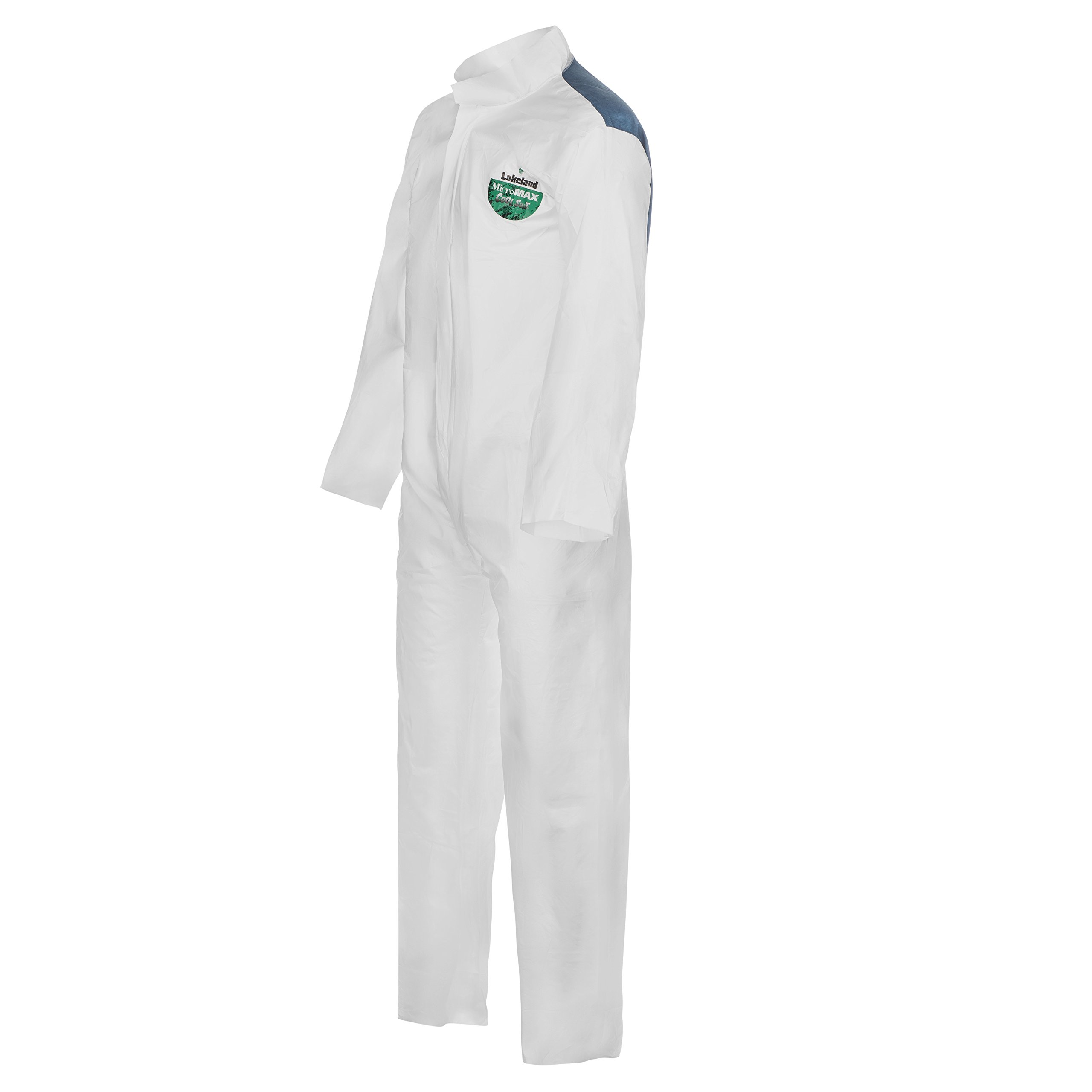 Lakeland MicroMax NS Cool Suit Microporous Coverall, Open Cuff, X-Large, White (Case of 25) by Lakeland Industries Inc (Image #1)