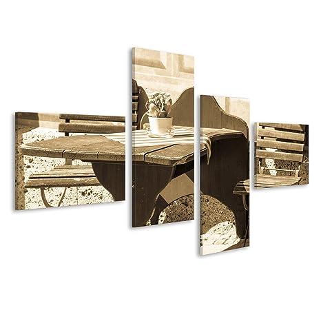 islandburner Quadro moderno Tavolo e sedie in un caffè Stampa su ...