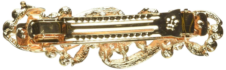 HP005 Matrimonio sposa fiore Strass barretta per capelli clip argento turchese 9,5 cm