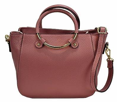 b2aaed9757aee BZNA Bag rosa Italy Leder Designer Ledertasche Umhängetasche Damen  Handtasche Schultertasche Tasche Leder Neu