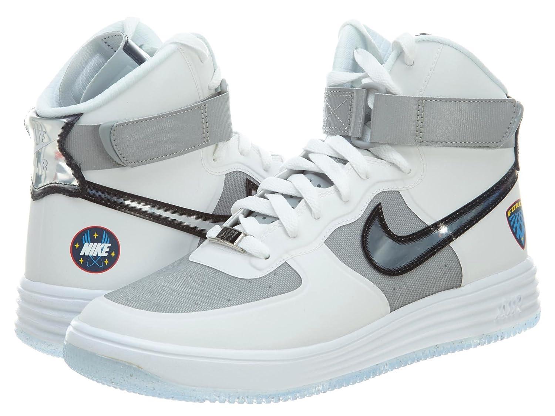 Nike Air Lunar Force 1 Hi WOW QS RARITÄT Basketball Sneaker weißgrauschwarz