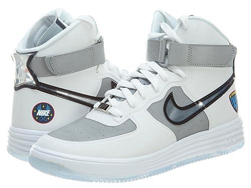 Nike Lunar Force 1 Hi Wow QS para Hombre Zapatillas Blancas 632359 100, Herren -