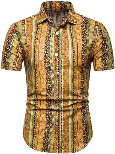 Jinyuan Camisa Hawaiana De Playa De Verano para Hombres 2020 Marca De Manga Corta Camisa Floral De Gran TamañO Ropa Casual De Vacaciones para Hombres: Amazon.es: Ropa y accesorios
